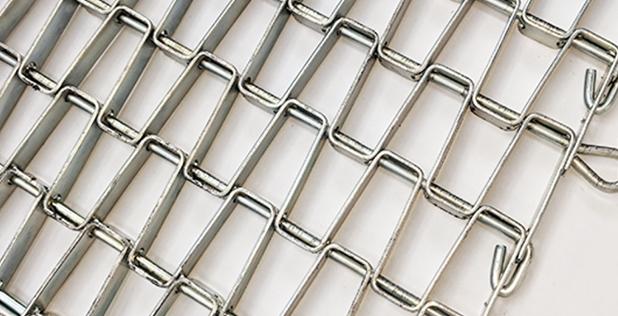 Wedge wire chain link belt